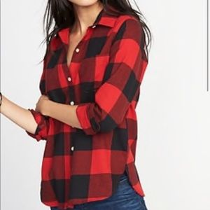 Old navy buffalo plaid button down top